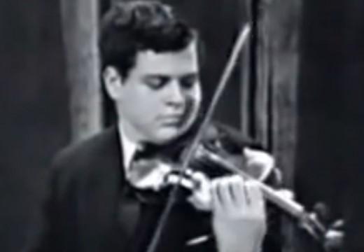 帕爾曼兒童時期演奏維尼奧夫斯基炫技