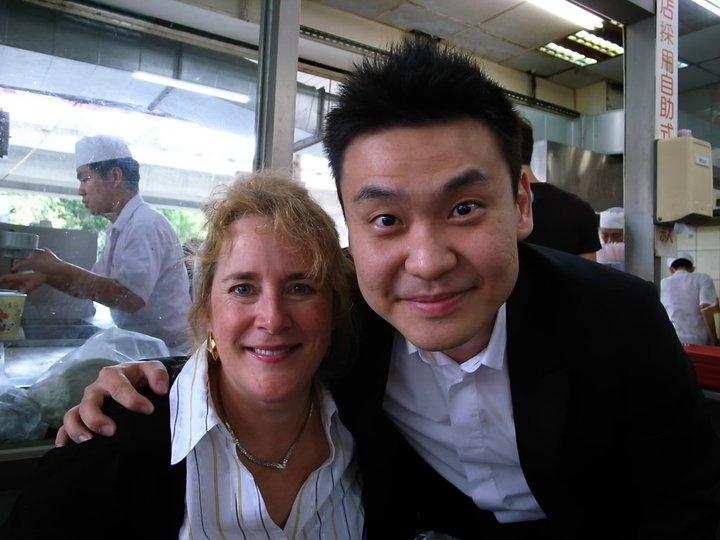 紐約恩師LucieRobert  來台台灣大師班一起去吃台灣的豆漿