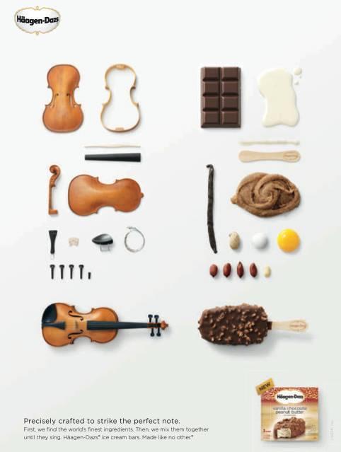 感謝哈根冰淇淋公司順便宣傳小提琴