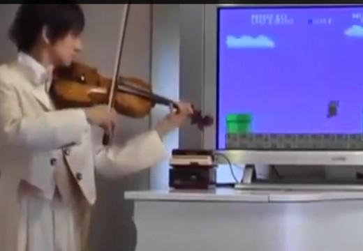 超級瑪利的音樂其實可以用小提琴做出來的