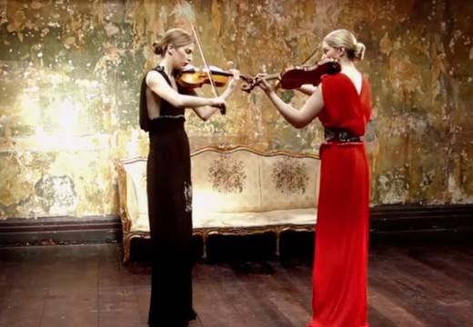 美女演奏火爆的普羅高菲夫小提琴二重奏