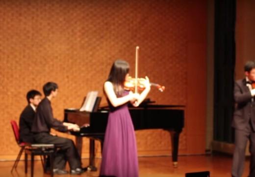 台灣大學學生讓我開心的小提琴演奏