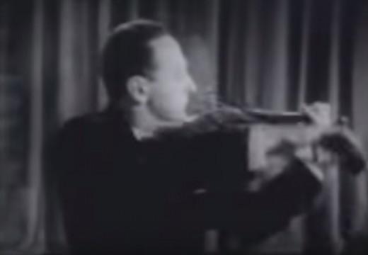 小提琴之神的巴哈前奏曲     珍貴海飛茲黑白影像